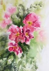 A charming moment 11x14 watercolour